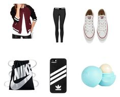 """Outfit B"" by aaballer ❤ liked on Polyvore featuring Topshop, Converse, NIKE, adidas and River Island"