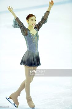 News Photo : Kim Yu-Na performs during day three of Korea. Gymnastics Outfits, Rhythmic Gymnastics, Kim Yuna, Takeshi Kaneshiro, Figure Skating Dresses, Ice Skating, Skate, Korea, Outfit Ideas