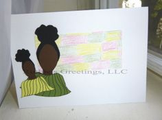 African-American Greeting Cards- Sister, Mothers, Daughter,- Blank Card by Ruthie's Greetings on Etsy