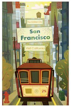 San Francisco poster by Maryam Sefati (School of Illustration)