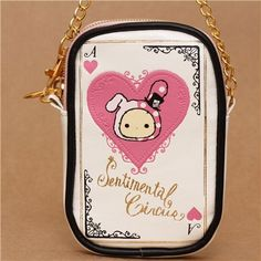 Sentimental Circus pouch pink bunny circus playing card