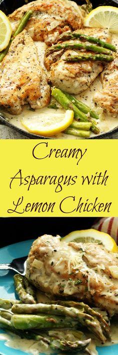 Creamy Asparagus with Lemon Chicken, My Recipe Treasures