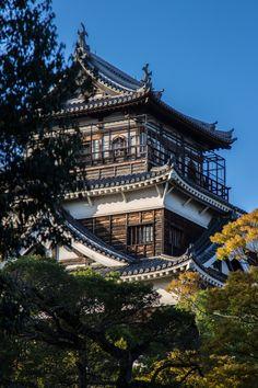 Hiroshima Castle by Eduardo Morales on Japanese Travel, Japanese Castle, Japanese Photography, Rising Sun, Hiroshima, Beautiful Architecture, Travel List, Cathedrals, Palaces