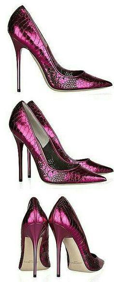 Magenta Shoes #hothighheelsmistress #jimmychooflats #stilettoheelsjimmychoo