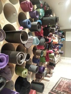 yoga studio mat storage - Google Search