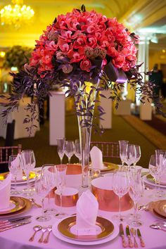 Weddings by Harrods: Harrods' Luxury Wedding Planner Service. Wedding Centerpieces, Wedding Decorations, Wedding Tables, Centrepieces, Floral Wedding, Wedding Flowers, Tall Flower Arrangements, Red Orchids, Fantasy Wedding