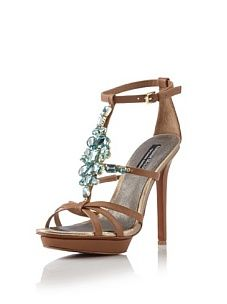 Adrienne Maloof by Charles Jourdan Collection Venus T-Strap Platform Sandal