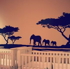Nursery Mural for twins.  Absolutely amazing.