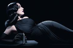 Dita rocking old school Hollywood glam in pix for her new fragrance for Liberty of London