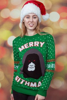 Wrap yourself inside these sweet Christmas sweaters emblazoned with Star Wars, video game icons and comic book heroes.