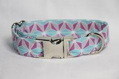 Kaleidoscope Dog Collar by mileyandmoscow on Etsy