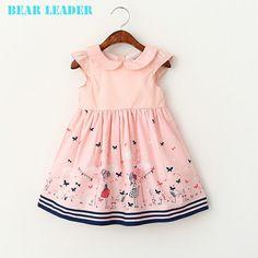 US $11.69 - 12.15 Bear Leader Girl Dresses Kids Clothes 2016 Brand Children Costumes for Girls Princess Dress Cartoon Pattern Girls Dress aliexpress.com