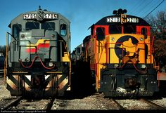 RailPictures.Net Photo: Seaboard System GE U36B # 5705 and Chessie System GE U23B #3210 at Spartanburg, South Carolina by Tom Sink.