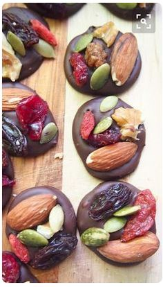 2 Ingredient Organic Dark Chocolate Trail Mix Energy Bites, Rich With Antioxidants! – Simply Taralynn 2 Ingredient Organic Dark Chocolate Trail Mix Energy Bites, Rich With Antioxidants! Whole Food Recipes, Snack Recipes, Cooking Recipes, Healthy Recipes, Whole Foods, Trail Mix Recipes, Healthy Breakfasts, Grilling Recipes, Baking Snacks