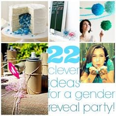 22 really clever gender reveal party ideas! (via @thecraftblog )