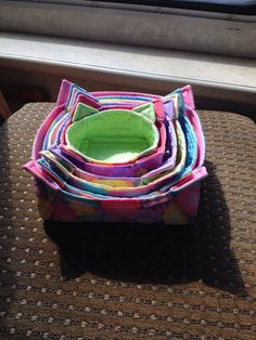 stacking (nesting) fabric boxes tutorial with directions for various sizes - excellent 2-25-15