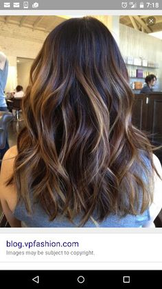 Balayage dark with Carmel