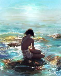 study-fine-art-something-with-love ref: nadya kulikova Water Nymph Woman Painting, Figure Painting, Painting Art, Lake Pictures, Water Nymphs, Water Art, Beauty Art, Beautiful Artwork, Erotic Art