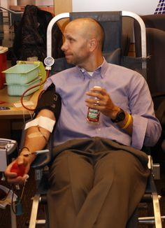 Employees from The MH Companies stretched out their arms and enjoyed the nourishing snacks during the 2012 Blood Drive.  This year's event is Aug. 23, 2013.  Call today if you'd like to participate!