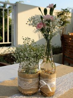 60 incredible centerpiece ideas and where to buy yours - Birthday FM : Home of Birtday Inspirations, Wishes, DIY, Music & Ideas Jar Centerpiece Wedding, Crystal Centerpieces, Birthday Centerpieces, Mason Jar Centerpieces, Rustic Centerpieces, Birthday Decorations, Wedding Decorations, Table Decorations, Centerpiece Ideas