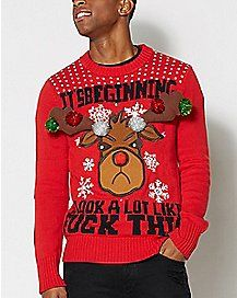 87e0436d06cb Ugly Funny Christmas Sweaters for Men   Women