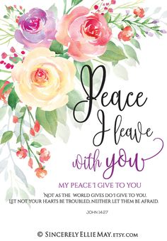 Peace I leave with you; my peace I give to you. Not as the world gives do I give to you. Let not your hearts be troubled, neither let them be afraid. John 14:27 Beautiful wall art you can download, print and frame to hang in the office or home #download #peace #office #officegift #home #walldecor #christianity #worldpeace #truth Biblical Quotes, Bible Verses Quotes, Jesus Quotes, Sign Quotes, Bible Scriptures, Bible Verses About Marriage, Faith Quotes, John 14 27, Bible Verse Art