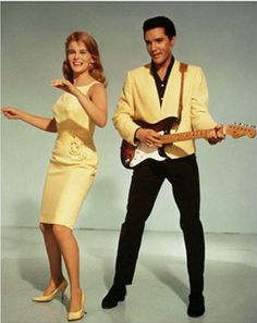 Ann Margret and Elvis with Stratocaster in promotional shots for Viva ...