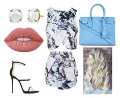 """""""Untitled #16"""" by lily-schlaug ❤ liked on Polyvore featuring Topshop, Giuseppe Zanotti, Yves Saint Laurent and Lime Crime"""