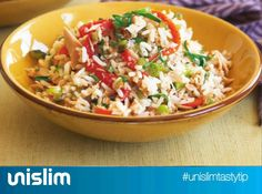 Try our delicious Tuna and Rice Salad recipe as part of your weight loss diet plan. Join your nearest Unislim class for more recipes, advice and support! Unislim Recipes, Rice Salad Recipes, Healthy Salad Recipes, Healthy Tuna, Healthy Rice, Tuna Rice Salad, Roasted Capsicum, Rice Pasta, Fett