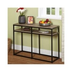 Sofa TABLE Accent Couch Console Living Room Furniture Black Hallway Side Storage
