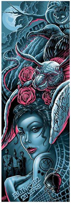 20 Years of blink-182 limited edition poster