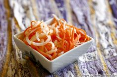 Vietnamese Pickled Carrot and Daikon Recipe (Do Chua)  Side Dish for the Vietnamese Bi (meat salad)
