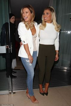Sam Faiers opts for jeans and plunging camisole at beauty launch party #dailymail