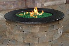 Pre-Packaged Cambridge Olde English Round Gas Fire Pit Kit