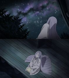 Kaguya Otsutsuki looking the sky - screencaps by me.