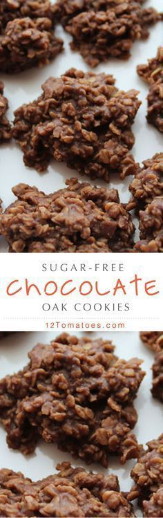 doesn't love to indulge in some sugar-free cookies? Try out this great dessert recipe today!Who doesn't love to indulge in some sugar-free cookies? Try out this great dessert recipe today! Sugar Free Deserts, Sugar Free Sweets, Sugar Free Cookies, Sugar Free Recipes, Baking Cookies, Sugar Free Snacks, Cake Cookies, Brownie Desserts, Diabetic Desserts