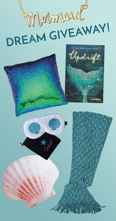 Win this Mer-mazing set of Mermaid goodies!! Blanket, necklace, 2 pillows, sleep mask & Novel! Winner announced Nov 1, 2016 ~ Enter Now!