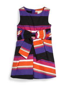 sleeveless jillian striped dress, multicolor, size 2-6