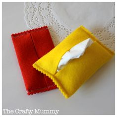 Sew a cute tissue holder with this easy step-by-step tutorial using felt