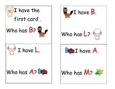 cute letter recognition game