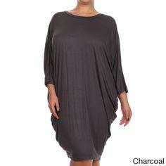 Women's Plus Size Draped Dress