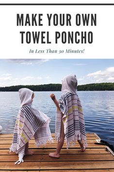 Easy DIY Kids Towel Poncho – Best Towel Models and Patterns 2020 Sewing For Beginners Diy, Sewing Tips, Sewing Hacks, Sewing Crafts, Poncho Pattern Sewing, Hooded Poncho Pattern, Hooded Towel Tutorial, Easy Diys For Kids, Kids Hooded Towels