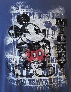 Velveteen Mickey Mouse T-shirt SZ Medium 100% Organic Cotton