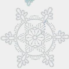 Crochet Snowflake Pattern, Crochet Snowflakes, Crochet Motif, Knit Crochet, Crochet Patterns, Christmas Star, Christmas Crafts, Christmas Decorations, Crafty