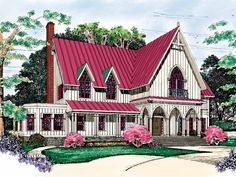 Eplans Gothic Revival House Plan - Modern Gothic - 3875 Square Feet and 4 Bedrooms from Eplans - House Plan Code HWEPL03337