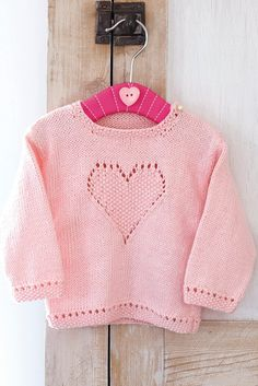 Baby Girls Jumper With Heart Knitting Pattern – The Knitting Network