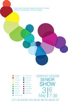 Senior Show Poster - Student Work on Behance
