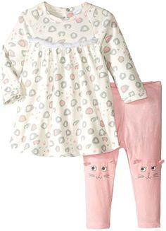 Little Marc Jacobs Baby Girls' Set Of allover Printed Dress With Cute Leggings