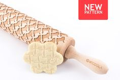 Engraved rolling pin with PUG pattern #pug #rollingpin #stodola