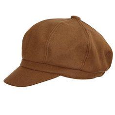 VGLOOK Womens Wool Berets Beanies Cap Hats 8 Panel Baker Boy Flat Caps  newsboy Hat ( fdb1d85bedaf